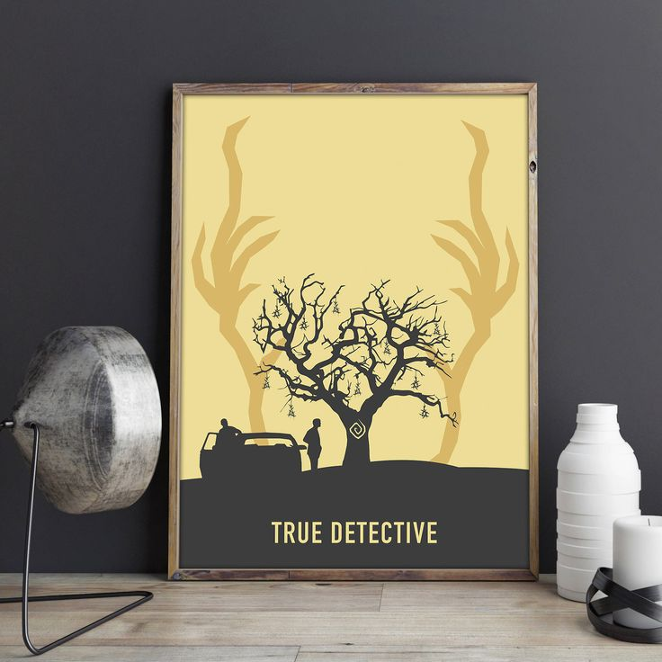 True Detective Poster: Yellow King // True Detective Wall Art // Rust Cohle // Geek Decor // Digital Print // By Alcateia Art