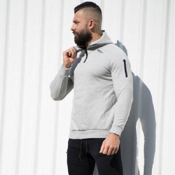 Echt Apparel Training Hooded Zip-up Open type Black ECHT Sportswear Gym Tainer