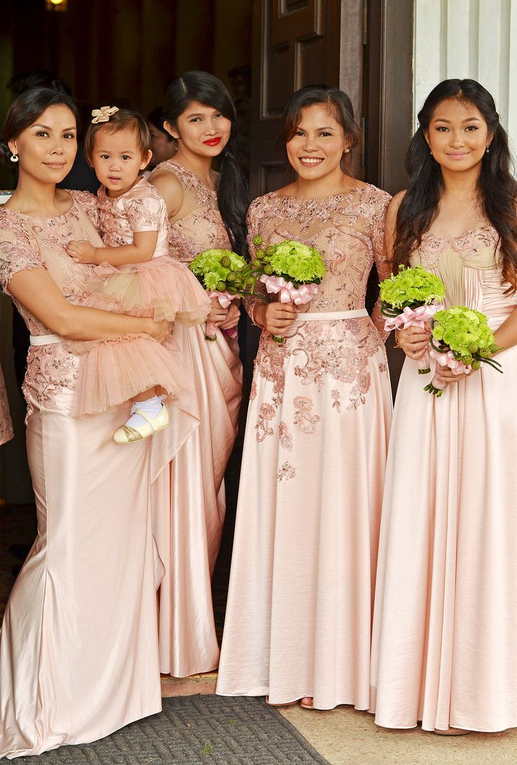 Lace bridal gown and entourage by camille co wedding for Principal sponsor wedding dress