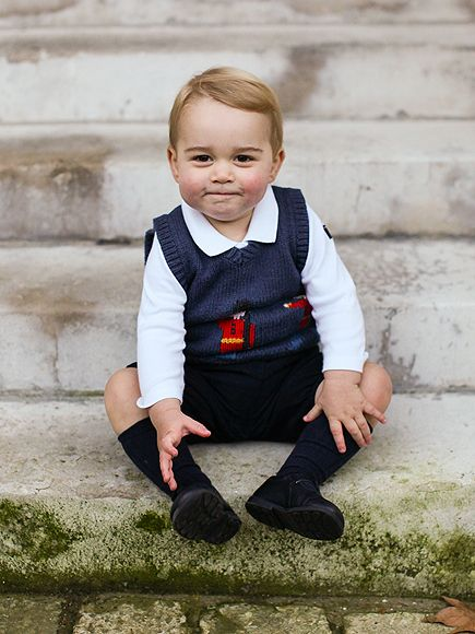 New pictures released of Prince George for Christmas. He will be seventeen months old on December 22. They were taken at Kensington Palace.