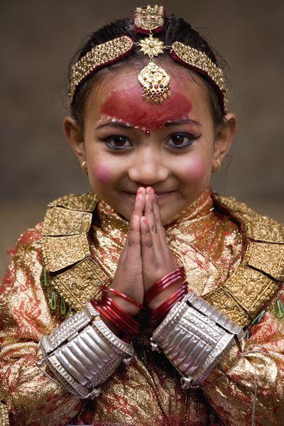 Little Girl from Nepal - Namaste!