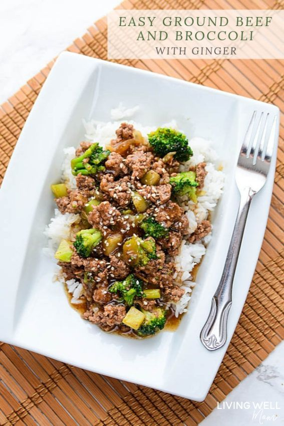 Easy Ground Beef And Broccoli Gluten Free Dairy Free Recipe Broccoli Recipes Healthy Ground Beef And Broccoli Ground Turkey Broccoli Recipe