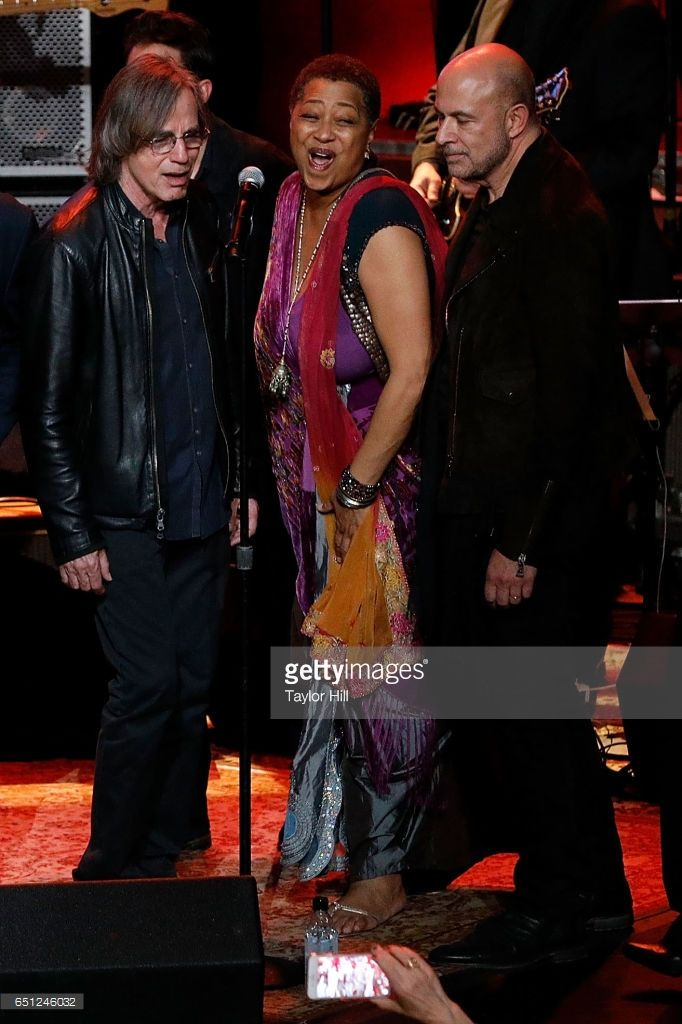 Jackson Browne, Lisa Fischer, and John Varvatos perform during 'Love Rocks NYC! A Change is Gonna Come: Celebrating Songs of Peace, Love and Hope' - a benefit concert for God's Love We Deliver at Beacon Theatre on March 9, 2017 in New York City.