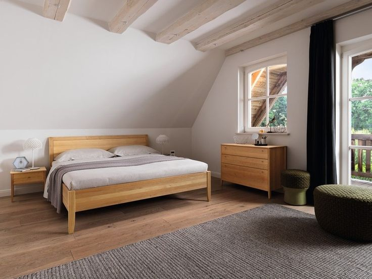 Download the catalogue and request prices of Sesam | double bed By team 7, solid wood double bed design Karl Auer, sesam Collection
