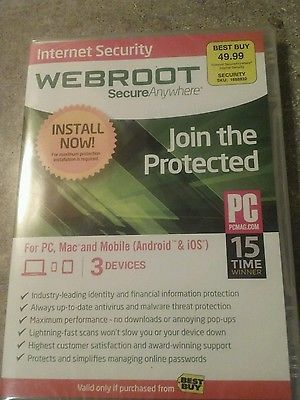 Brand New Internet Security WebRoot Secure Anywhere