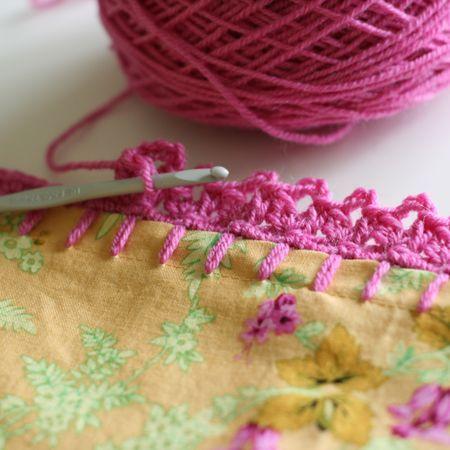 Crochet edging.