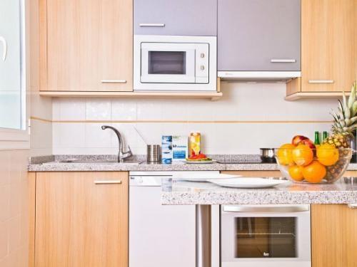 Cocina en uno de los #apartamentos del Pierre & Vacances Mojacar Playa