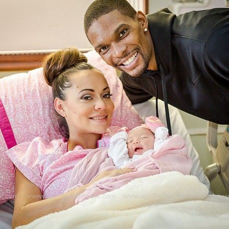 Adrienne & Chris Bosh Welcome their baby girl Dylan