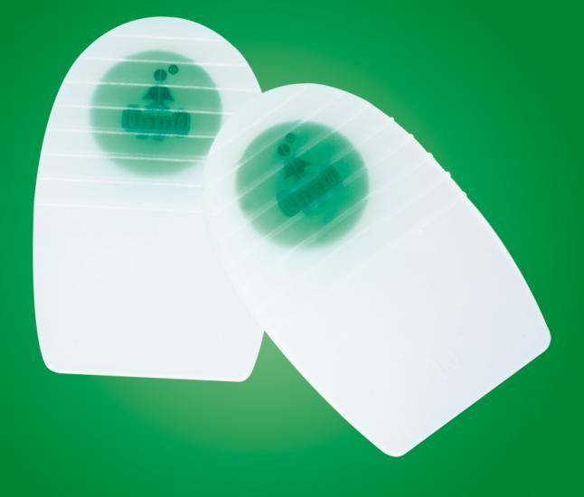 Podpiętki silikonowe amortyzyjące (płaskie) firmy OPPO pomagają zredukować wstrząsy wywierane na stawy oraz kręgosłup, łagodzą naciągnięcia więzadeł, mięśni oraz ścięgna Achillesa. Absorbują 96,3% energii wstrząsu. Są wytrzymałe i łatwe w utrzymaniu czystościi.