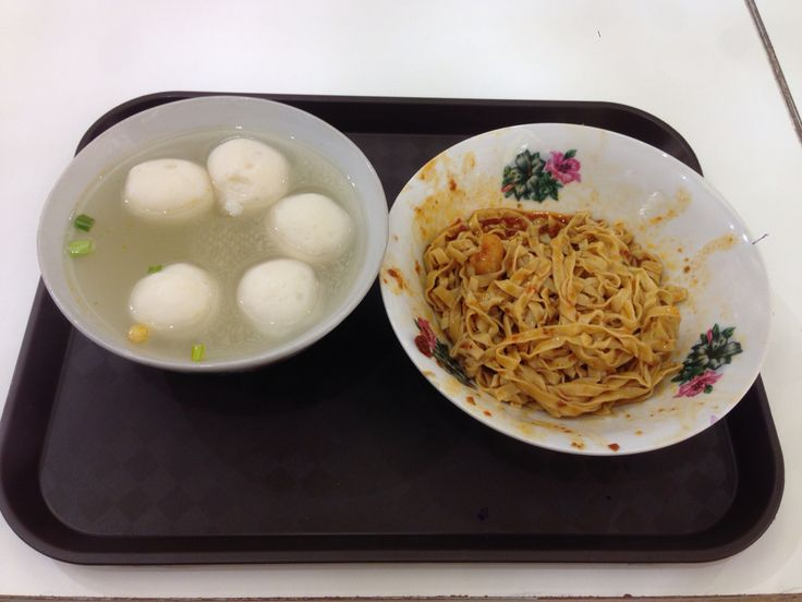Teo Chew Fish balls with noodles in chili sauce