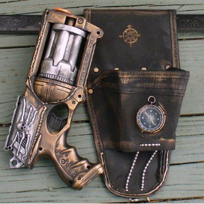Steampunk gun HOLSTER BELT Victorian Nerf N-Strike Maverick Zombie Fall Out Halo Soft Dart