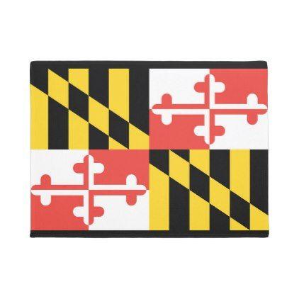 Maryland Flag Door Mat - dorm decor college diy cyo personalize room unique idea