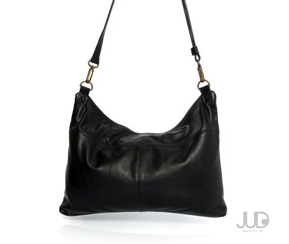 Black leather bag soft leather purse SALE leather by JUDtlv