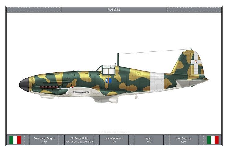 Fiat G.55 World War II User Country Italy