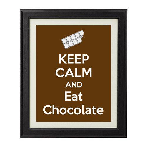 Keep Calm and Eat Chocolate-Art Print
