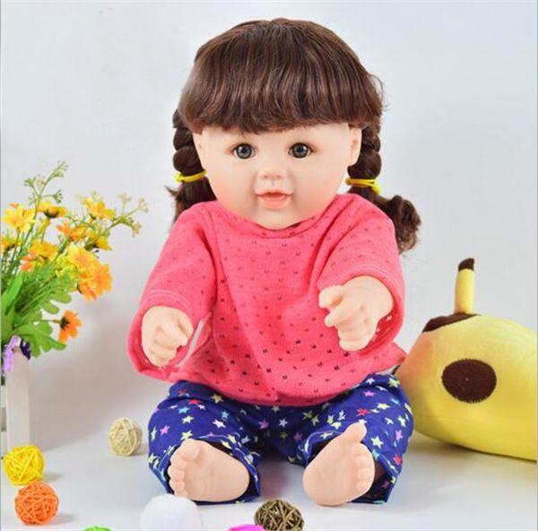 47.22$  Watch more here  - 18 inch cheap Reborn Baby Doll Soft Vinyl body Lifelike Newborn Baby toys girls gift