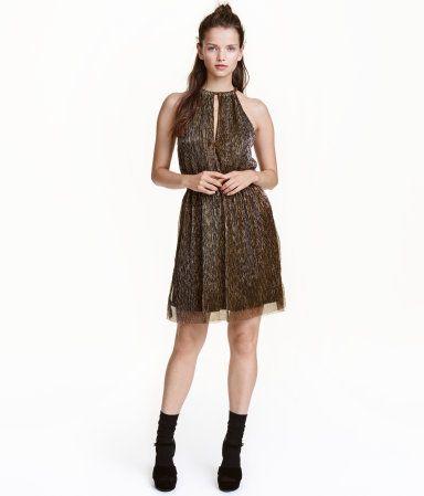 Glitterende jurk | Goudkleurig | Dames | H&M NL