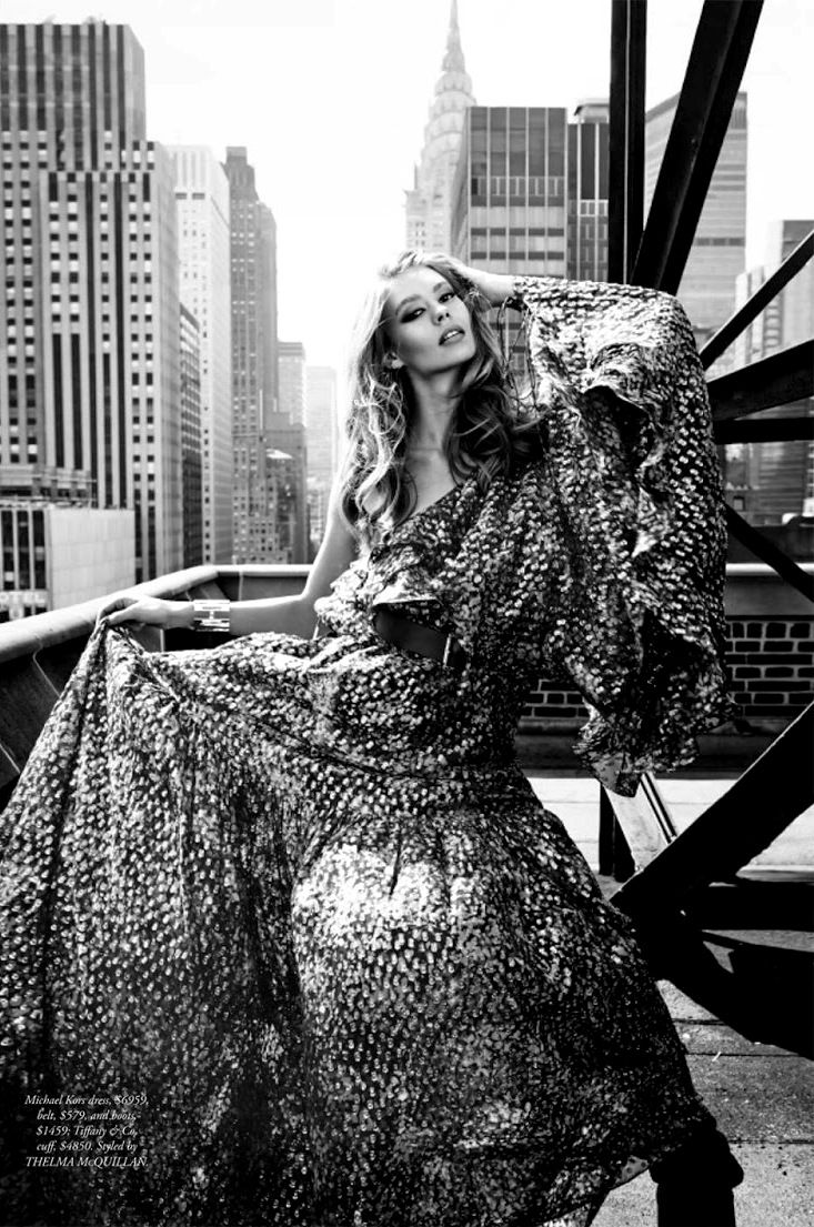 Harper's Bazaar Australia September 2014 | Ondria Hardin by David Mandelberg [Editorial]