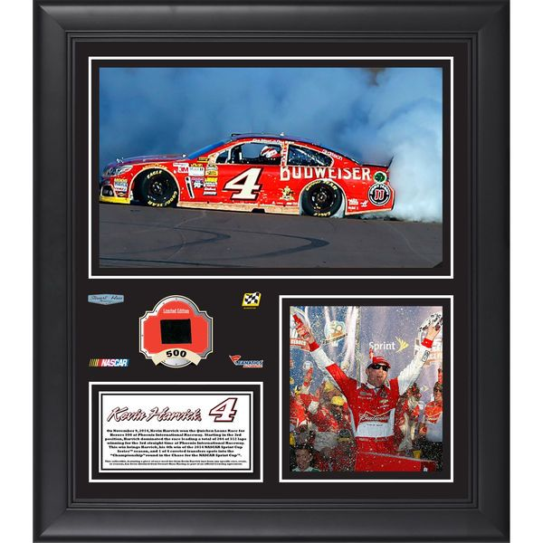 """Kevin Harvick Fanatics Authentic Framed 15"""" x 17"""" 2014 Quicken Loans 500 at Phoenix International Raceway Race Winner Collage With Race-Used Tire - $79.99"""