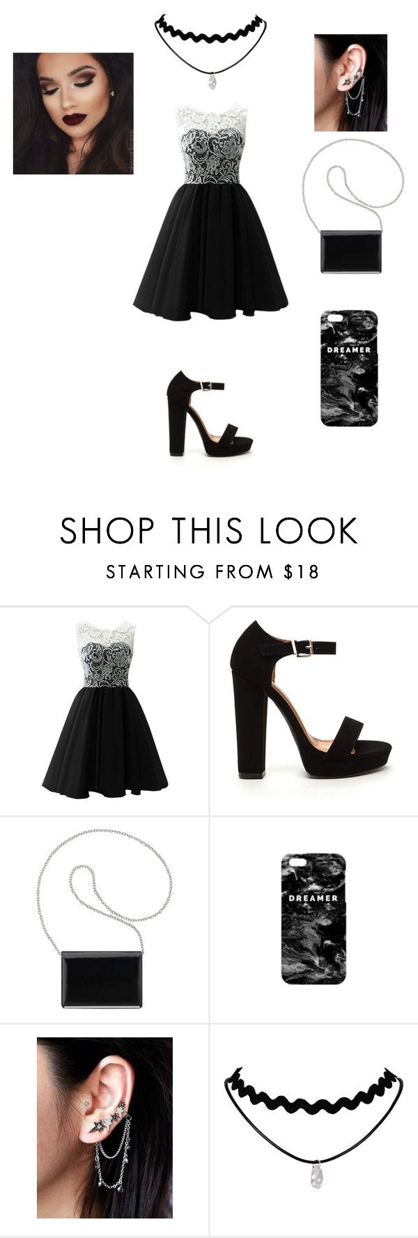 """""""Black and White Date Night( Woman Version)"""" by puppylovereverblue ❤ liked on Polyvore featuring Nine West, Mr. Gugu & Miss Go and Free People"""