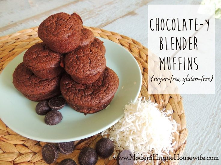 Chocolate-y Blender Muffins {sugar-free, gluten-free} - Modern Hippie Housewife