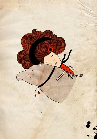 Cute Taurus Girl by Kristina Sabaite