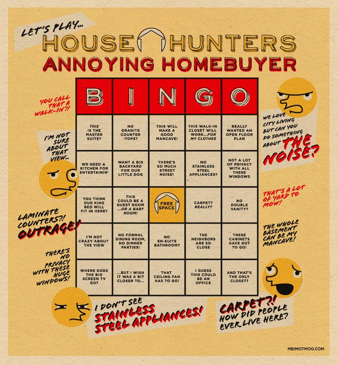 House Hunters Bingo