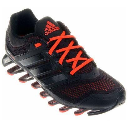 Tênis Adidas Springblade 2 - Preto+Laranja Escuro