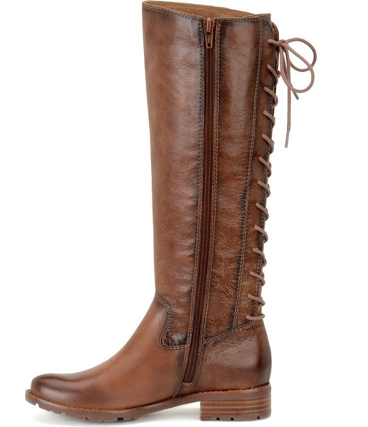 Whiskey:Sofft Sharnell Tall Lace Up Back Block Heel Riding Boots