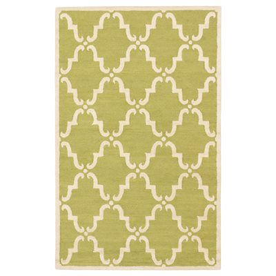 Ecarpet gallery 108665 marrakech light green cream hand for Green and cream rugs