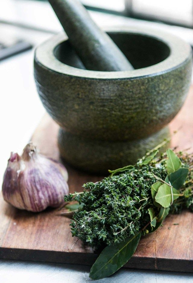 My favorite kitchen tool, this low-tech (and inexpensive) mortar and pestle makes the best pesto, tapenade and other sauces and spreads!