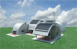 Blog A Creative Use For Steel Arch Buildings Metal Homes