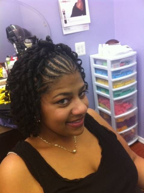 Image result for half cornrows hairstyles