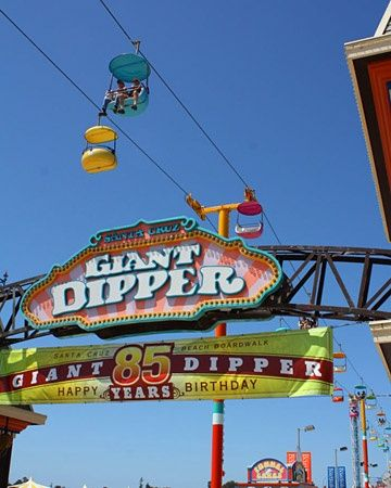 Ride a Roller Coaster On summer afternoons, Cindy-RomanticHomeBlog loves to ride the Giant Dipper, an old roller coaster at the Santa Cruz Beach Boardwalk.