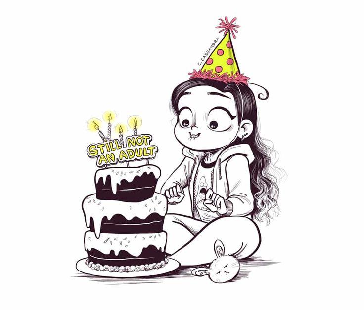 Смешной рисунок карандашом с днем рождения
