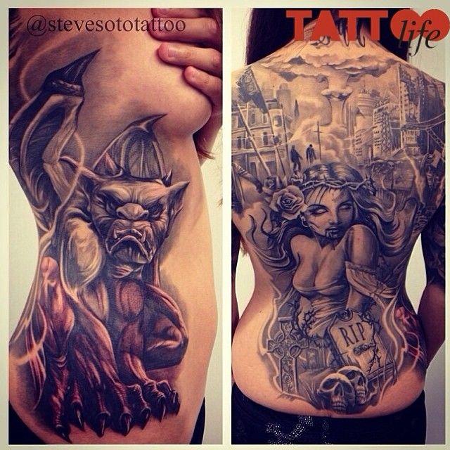 "@tattoolifemagazine's photo: ""Works by Steve Soto - Goodfellas Tattoo, USA @stevesototattoo"