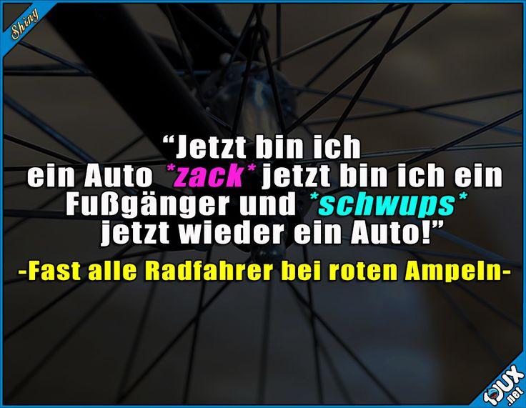 Wie Zauberei! #Radfahrer #Autofahrer #Witze #Humor #lustigeSprüche #Jodel #sowahr #WhatsAppSprüche Humor
