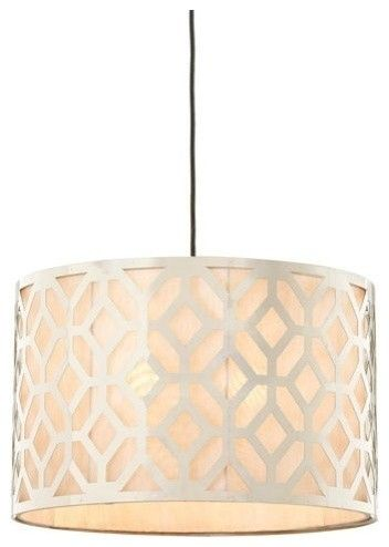 The fretwork on this light is just stunning, especially with the fabric linen background. It adds interest to the fixture but also feels a bit more casual for a kitchen setting. drumshade, lighting