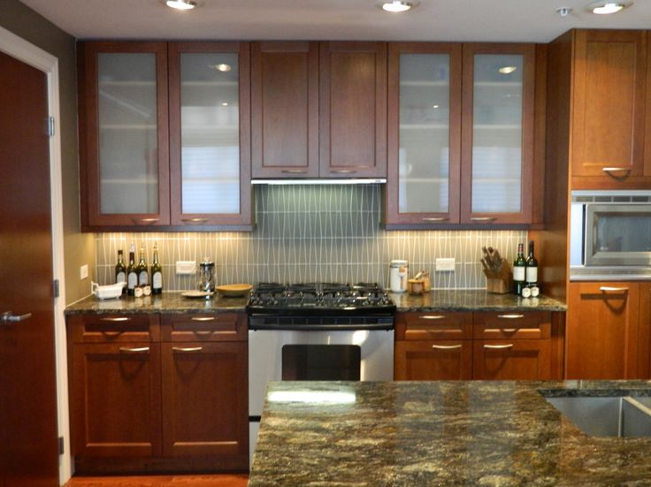 Kitchen Cabinet Doors Replacement Casual Kitchen Interior Stainless Steel Kitchen Cabinets Having Amusing Brown Teak Wood Furniture Upper Dcoration With Down Lighting Decorate And Centerpieces Stove On Storage How To Refinish Kitchen Cabinets, Affordable Furniture Material On Teak Wood Kitchen Cabinet: Furniture