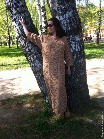 Платья ручной работы. Вязаное Кельтское платье, араны. Наталья Багаева…