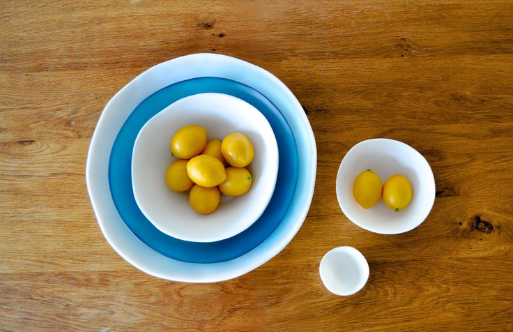 Round Bowls - Tina Frey Designs - Food Safe, lead and BPA-free resin - Handmade with care