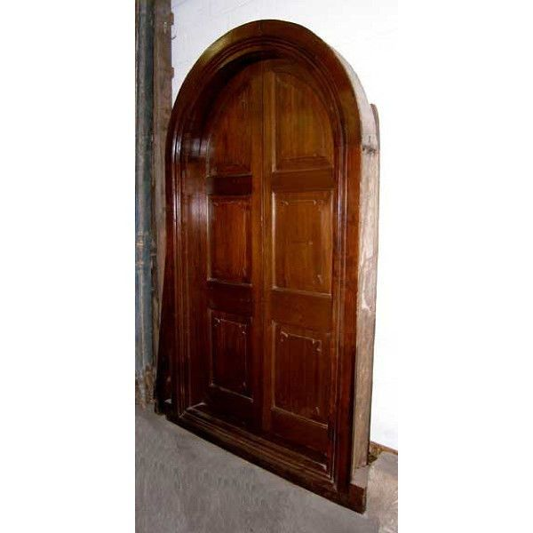 English Raj Era Solid Teak Arched Double Door with Hand Carved Massive Frame - 44 Best Make A Statement Antique Doors Images On Pinterest