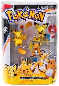 Pokemon TOMY Basic Figure Evolution 3-Pack Pichu, Pikachu & Raichu