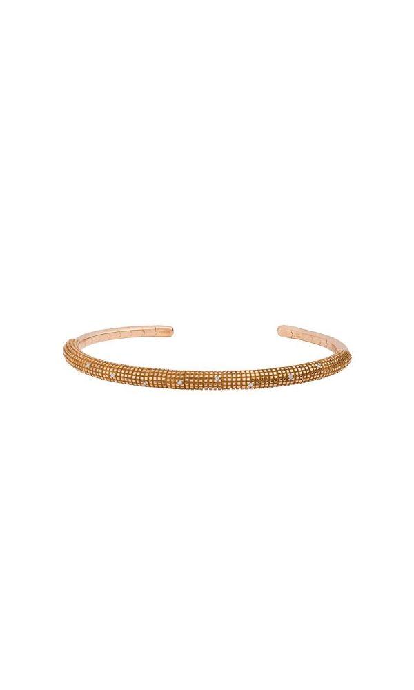 Yellow gold and diamonds bracelet