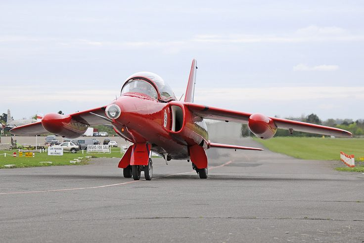 "Folland Gnat T1  RAF ""Red Arrow"" colour scheme  North Weald, Essex UK"