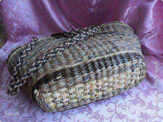 Поделка изделие Плетение На речку Бумага газетная фото 4