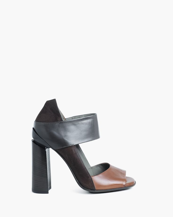 Malloni open toe leather shoe