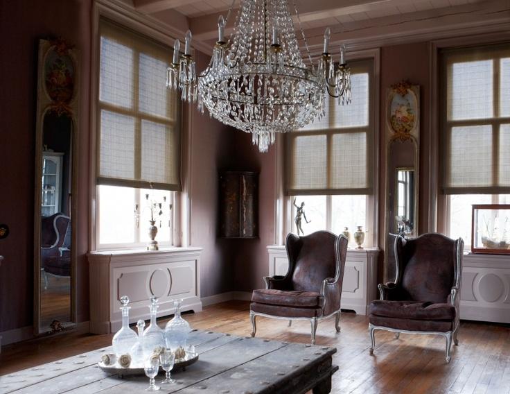 Collectie rolgordijnen in een romantische stijl. #interieur #klassiek ...
