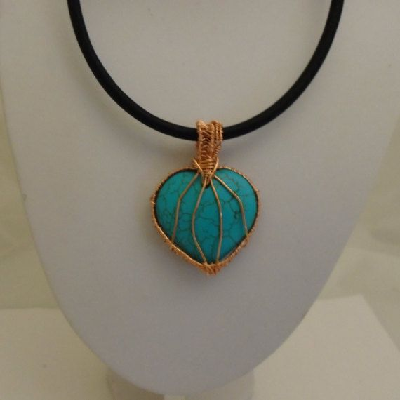 Turquoise Pendant Turquoise Necklace Handmade by K8tieSparkles