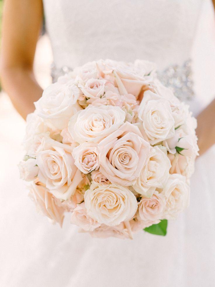 Blush And White Garden Rose Bridal Bouquet Wedding